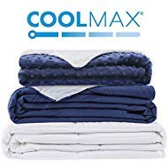 Degrees of Comfort Kids Weighted Blanket for Kids w/ 2 Duvet Covers for Hot & Cold Sleepers|Advanced Nano-Ceramic Beads Deliver Durability & Silky Comfort (41x60 10lbs, Navy)