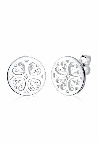 Elli Ohrringe Damen Ornament Orientalisch Filigran in 925 Sterling Silber
