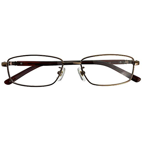 SHOWA 遠近両用メガネ スマート ヴィジョン (ブロンズ) (メンズセット) 全額返金保証 境目のない 遠近両用 眼鏡 老眼鏡 おしゃれ メンズ 男性 リーディンググラス (瞳孔間距離:66mm〜68mm, 近くを見る度数:+3.0)