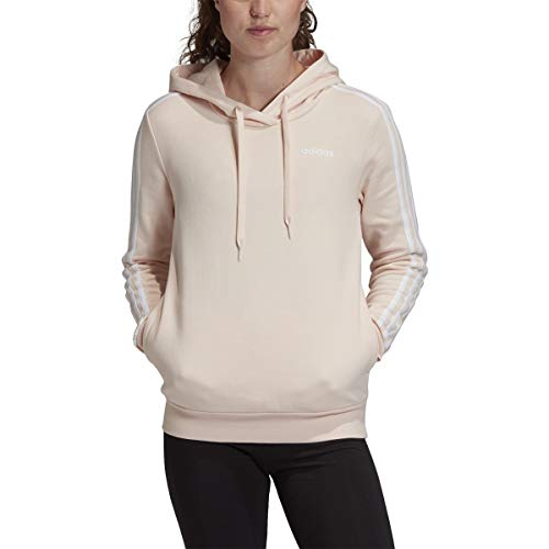 adidas 3-Stripes Hoodie - Women's Casual S Pink Tint/White