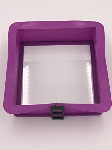 Berger Import Silikon Springform Kastenform Kuchenform Backform Auflaufform mit Glasboden eckig violett 21x21x7cm