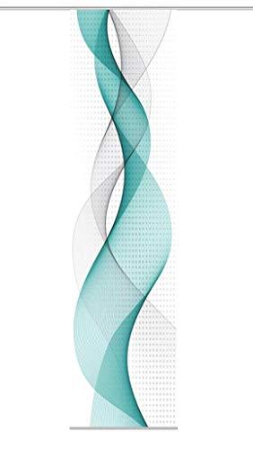 Home fashion OPALIA, poliéster, Turquesa, 245 x 60 cm