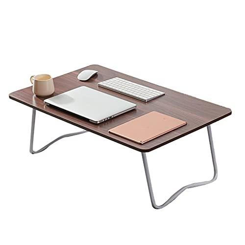 WERTYG Mesa de cama para ordenador portátil, escritorio de pie, para cama, sofá, cama de desayuno, bandeja de café plegable, soporte de lectura, mesa plegable (color: C)
