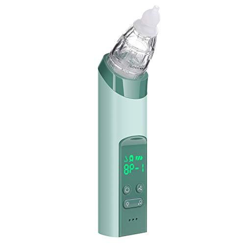 Aspirador nasal 2 en 1, aspirador nasal con 3 niveles de succión con 3 tamaños de silicona consejos portátil para bebés y niños pequeños, aspirador de espinillas con 4 sondas de repuesto
