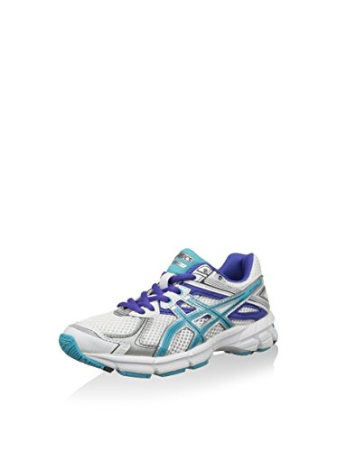 ASICS Unisex-Kinder Running Gt-1000 2 Gs Krabbelschuhe, weiß/türkis/blau, 36 EU