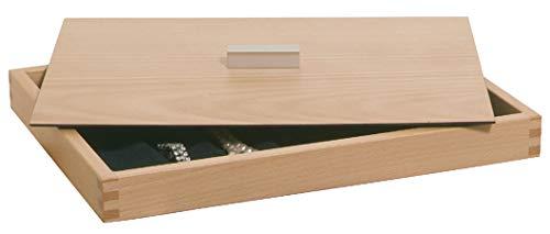 Gedotec Deckel für Schmuckeinsatz für Schublade & Kommode | echt Eiche Massiv-Holz | MADE IN GERMANY | 1 Stück - Abdeckung mit Griff