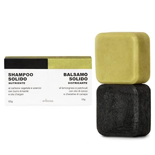 Shampoo Solido Bio e Balsamo 120 g - Enooso - 100%...