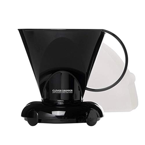 Clever Coffee Dripper and Filters, Small 11 oz|(Cloud) Barista's Choice| Safe BPA Free Plastic|Includes 100 Filters