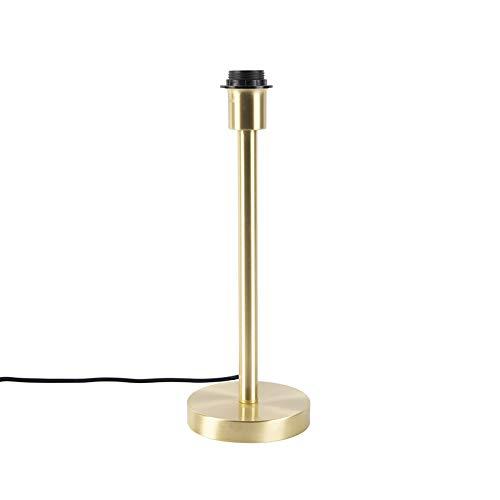 QAZQA Modern/Klassisch/Antik Klassische Tischlampe Messing ohne Schirm - Simplo/Innenbeleuchtung/Schlafzimmer Stahl Rund LED geeignet E27 Max. 1 x 60 Watt