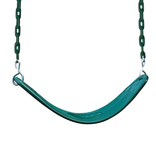 Gorilla Playsets 04-0002-G/G Deluxe Swing Belt - Green with Green Chains