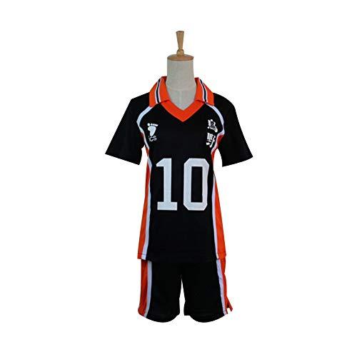 Brands Costume Cosplay di Haikyuu, Karasuno High School Volleyball Club Hinata Syouyou Costume Cosplay Anime Giapponesi, Maglie Abbigliamento Sportivo Uniforme