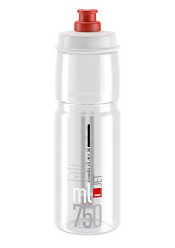 Elite Unisex Jet Biologisch abbaubare Wasserflasche, transparent/rot, 750 ml