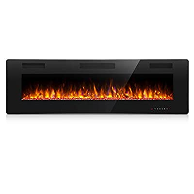 Antarctic Star 42 Inch Electric Fireplace in-Wall Recessed and Wall Mounted, 750/1500 Fireplace Heater and Linear Fireplace with Multicolor Flame? Control by Touch Panel