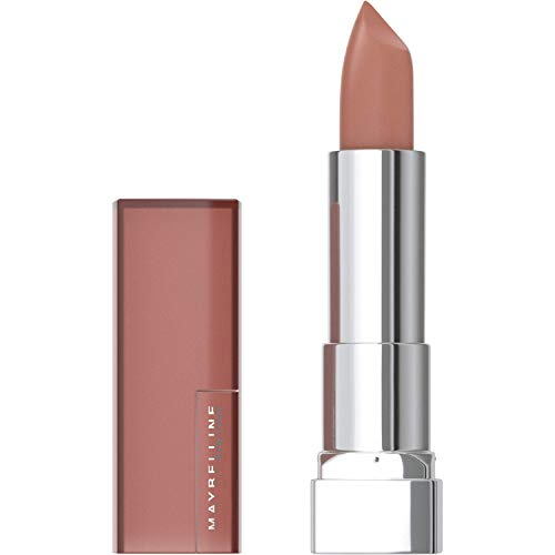 Maybelline Color Sensational Lipstick, Lip Makeup, Matte Finish, Hydrating Lipstick, Nude, Pink, Red, Plum Lip Color, Nude Embrace, 0.15 oz. (Packaging May Vary)