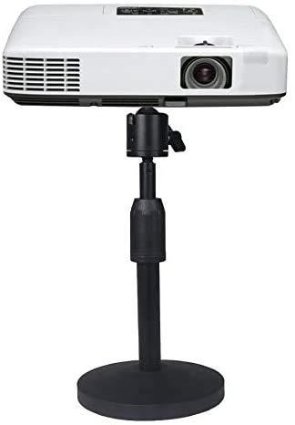 Soporte de mesa para mini proyectores, soporte para mini proyectores, soporte para proyectores ajustable en ángulo con tornillo de montaje 1/4 pulgadas
