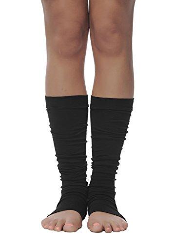 Luxury Leg Warmers, Knee High Open Toe Socks, Ergonomic Yoga Spats