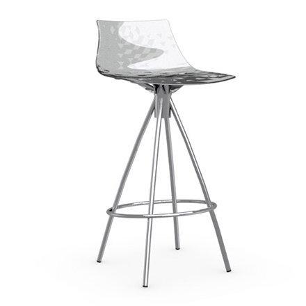 Calligaris Ice Bar Sgabello 65 cm - Gambe cromate - Top trasparente trasparente