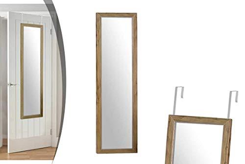 GICOS IMPORT EXPORT SRL Specchio Rettangolare da Porta e da Parete in Legno Colore Noce 36 * 1,5 * 126 cm NOF-772269