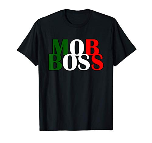 Mob Boss Bandera italiana 1920 Disfraz Fiesta de la mafia Camiseta