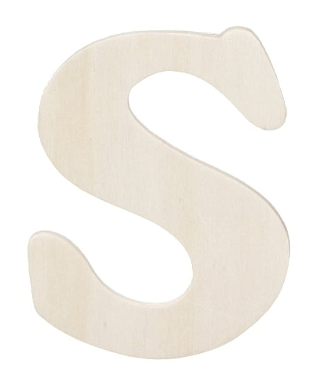 Darice 9181-S Wood Cutout, Letter S