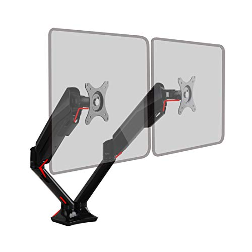 FlexiSpot F6AD Dual Monitor Mount, Gas Spring Desk Stands for Two 10-30 inches Flat Screens