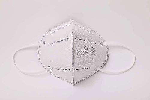Simplecase FFP2 Maske, Atemschutzmaske, Partikelfiltermaske, EU CE Zertifiziert von Offiziell benannter Stelle CE2834 – 40 Stück, WEIß MS-2004-20212 - 4