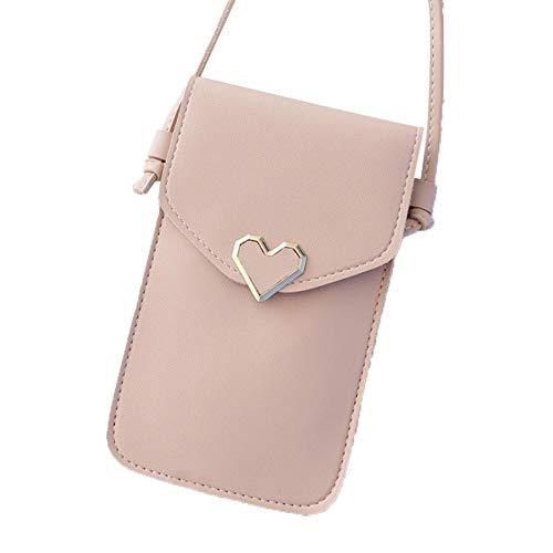 Onlyonehere Frauen Brieftasche Cross-Body Tasche Leder Geldbörse Handy Mini-Tasche Kartenhalter Schulter Brieftasche Tasche Mit Touchscreen-Tasche