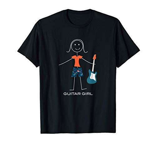 Mujeres divertidas Guitarra baja, Regalos de músico de niña Camiseta