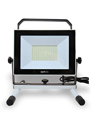 NextLED - Luz LED de trabajo (110 W, 10000 lm, equivalente a 1000 W), a prueba de agua IP 65, ángulos ajustables de 360 grados, luz de trabajo para taller, sitio de construcción, certificación ETL