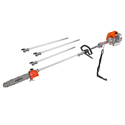MTM MTX100 Pro-Series 2-Stroke 62cc Petrol Pole Chainsaw and Brushcutter