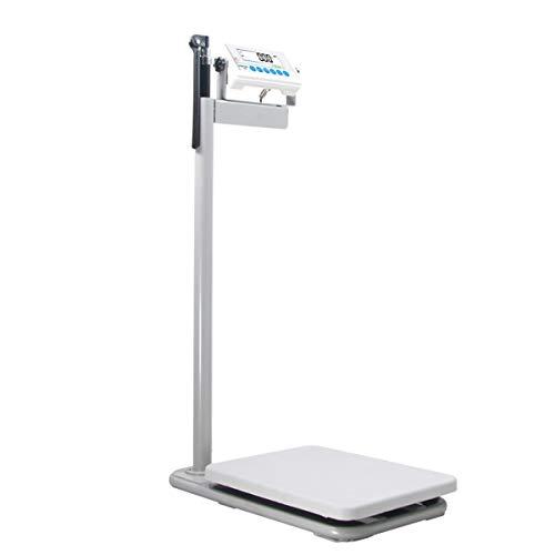 T&P Balanza Digital para MéDicos (con TallíMetro),Escala ElectróNica De Grasa Corporal,Pantalla LCD Giratoria De VisióN Nocturna De 90 Grados, MedicióN De Salud De Alta PrecisióN.