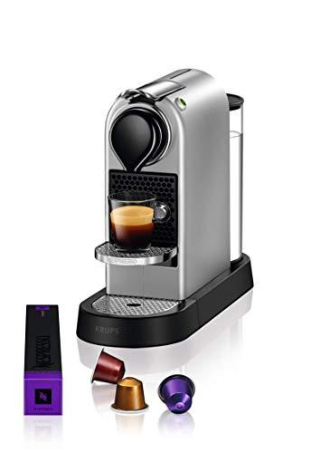 Krups Nespresso CitiZ Independiente Máquina espresso Plata 1 L - Cafetera (Independiente, Máquina espresso, 1 L, Cápsula de café, 1260 W, Plata)