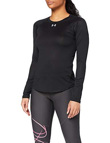 Under Armour UA Qualifier Long Sleeve Camiseta de Manga Larga, Mujer, Negro (Black/Black/Reflective 001), L