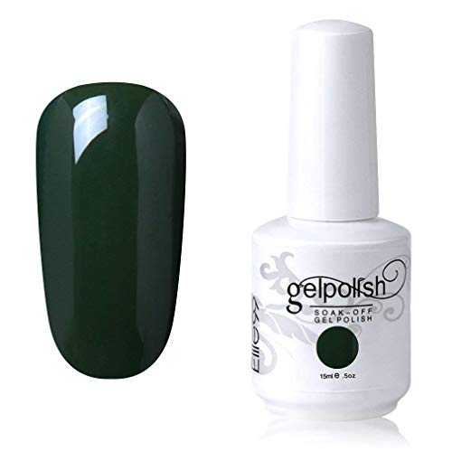 Elite99 Smalto Semipermente per Unghie in Gel UV LED Smalti per Unghie Soak Off per Manicure Verde 15ML - 1545
