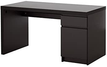 Ikea Malm Home Office Desk, black-brown With Floor protectors (Black Brown)
