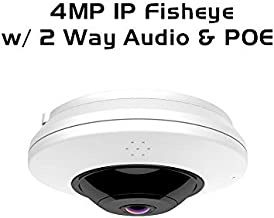 Ares Vision 4MP IP Network Fish-Eye 360 Degree Wide View CCTV Camera w/IR Night Vision, Tracking, Two Way Audio (4MP)