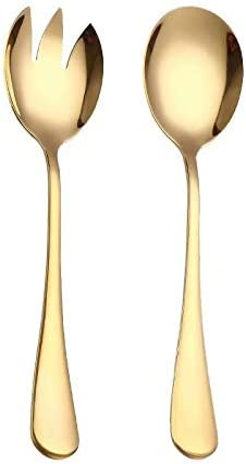 Spoons Spklifey Gold Al sold out. Salad Spoon Fork Same day shipping Stainless 2PCS