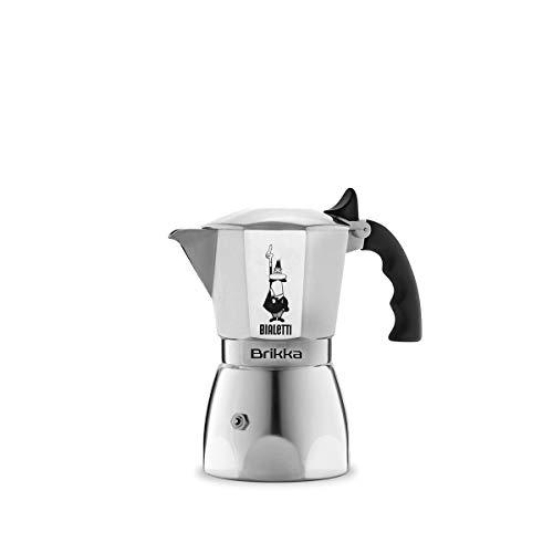 Bialetti - 6188 - Brikka - Cafetière Italienne en Aluminium - 2 Tasses