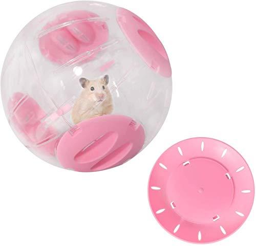 Hamster Laufrad, gesteigertes kleines Haustier-Kunststoff-Joggen-Übungsspielzeug, Hamster laufender Ball, der Langeweile lindert und die Aktivität für goldene Seide shih Tzu-Bär, syrischer Hamster (16