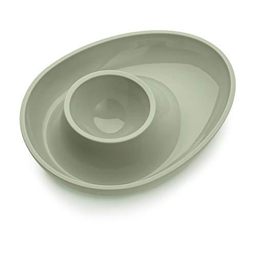 Koziol Columbus Eierbecher, Eierhalter, Eierbehälter, Eier Becher, Kunststoff, Eucalyptus Green, 11.5 cm, 3004655