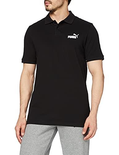 PUMA ESS Pique Polo T-Shirt Homme, Cotton Black, S