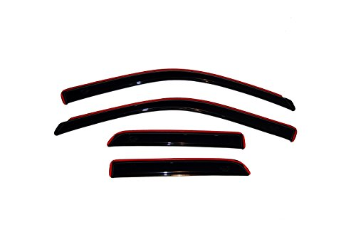 Auto Ventshade 194101 In-Channel Ventvisor Side Window Deflector, 4-Piece Set for 2009-2018 Dodge Ram 1500; 2019 Ram 1500 Classic | Fits Extended Cab Pickup