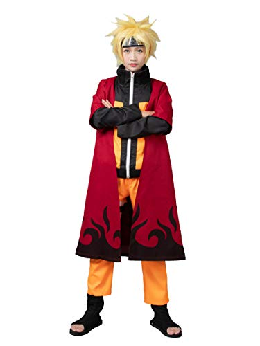 CosFantasy Shippuden Uzumaki Sennin Moodo Cape Cloak mp002566 (Medium) Red