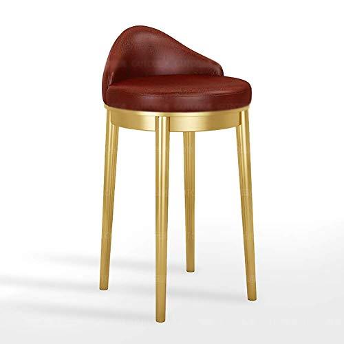 FTFTO Living Decoration - Sgabello da bar per bancone, sedia da cucina, in metallo, con schienale e sgabelli da sedia alta per cucina, caffè, uso commerciale (colore: nero, dimensioni: 69 cm)