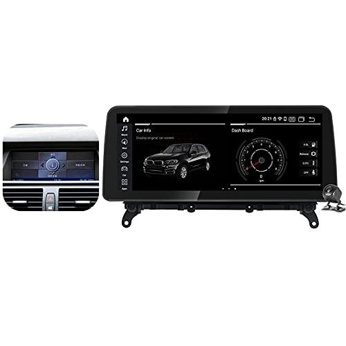 Buladala Qualcomm Android 11 Radio Estéreo para Coche para BMW X5 E70/X6 E71 2007-2014 GPS Navigator Pantalla de 12.3'' Unidad de Cabezal Soporta Carplay Android Auto SWC CD DVD DSP,CCC,450: 4+64 GB