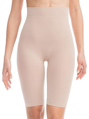 Farmacell Bodyshaper 603B (Carne, S M) Pantalón Corto Short de contención y modelador con Banda Abdominal - Fibra NILIT Breeze Ligero y refrescante
