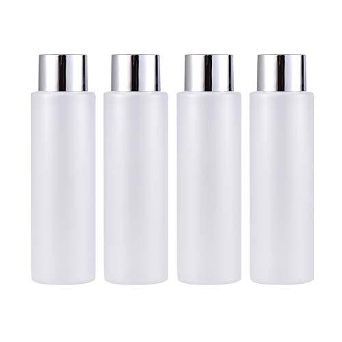 Lurrose 4 unids 200 ml Botellas Vacías Recargables Sampoo Dispensador De Plástico Contenedor Jar Pot para Lociones Gel Ducha Emulsión