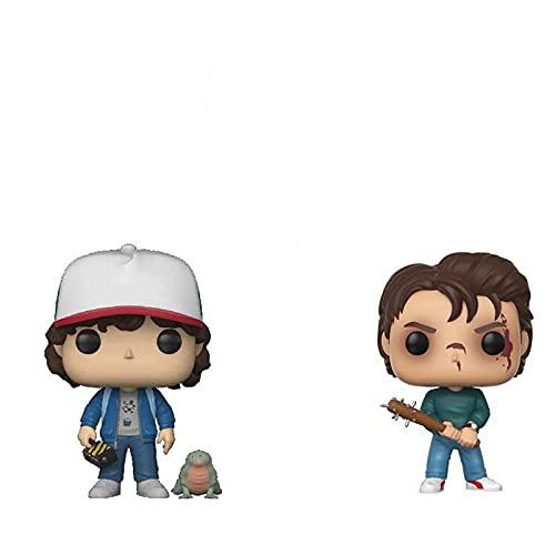 2 Piezas Figura Pop Serie De Películas De Terror Figura De Acción # 475 Steve # 593 Dustin...