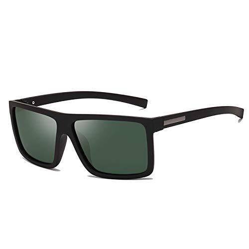 NJJX Gafas De Sol Para Hombre Gafas De Sol Polarizadas Con Parte Superior Plana Gafas De Sol Para Conducir Gafas De Sol Para Hombre Estilo Rectangular Verde