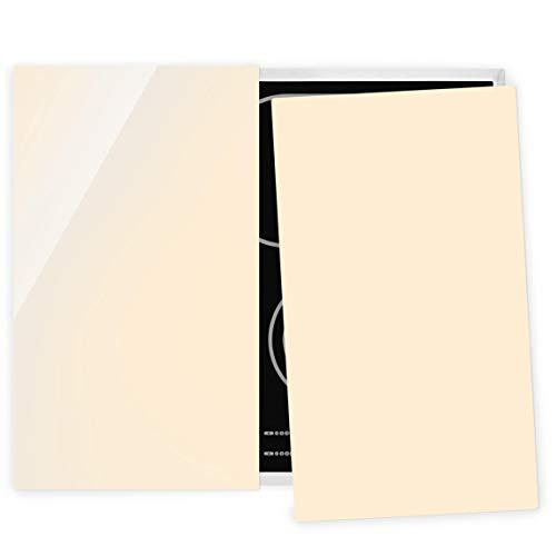 Bilderwelten Couvre Plaque de Cuisson à Induction vitrocéramique - Cream 52 x 60 cm